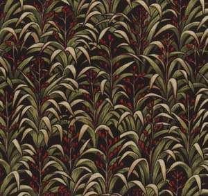 A875 Flax plants on black