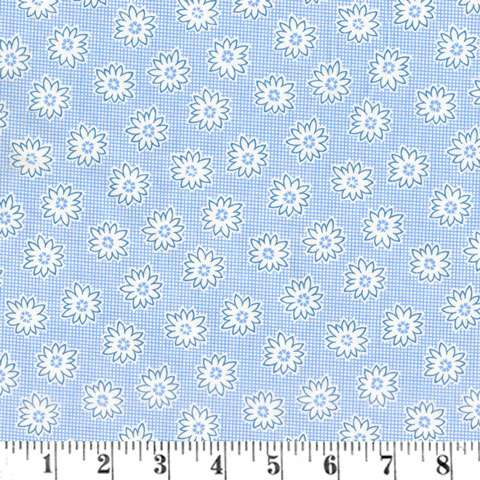 AC099 Extra Wide Backing - Blue Storybook Floral