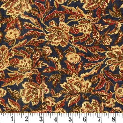 AC142 Mill Book Series 1889 - Floral Flourish - Indigo