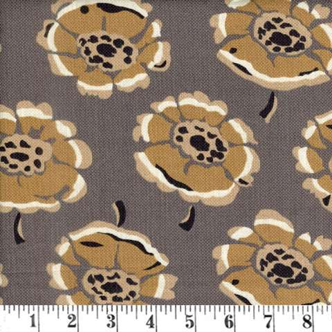 AC163 Mochachino - Grey Flowers