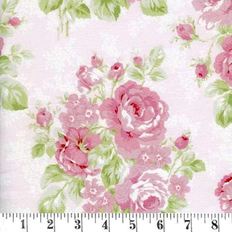AC194 Emma's Garden - Light Pink Large Floral