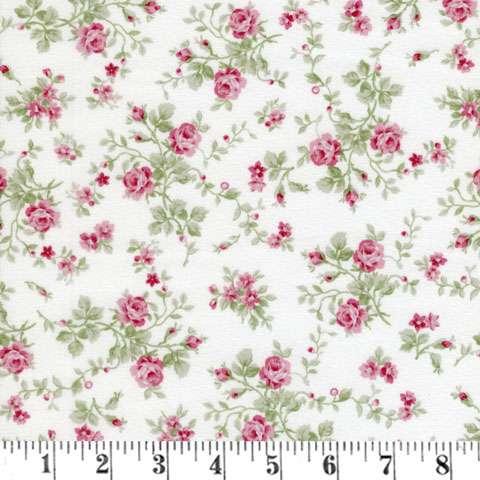 AC196 Emma's Garden - White Small Floral