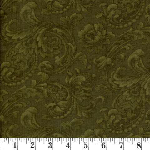 AC213 Mary's Blenders - Dark Olive Floral