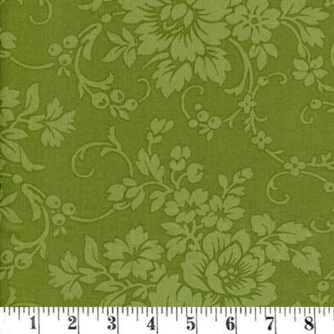 AC214 Mary's Blenders - Green Floral Damask