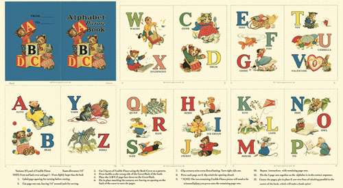 AC243 Alphabet Story Book Panel