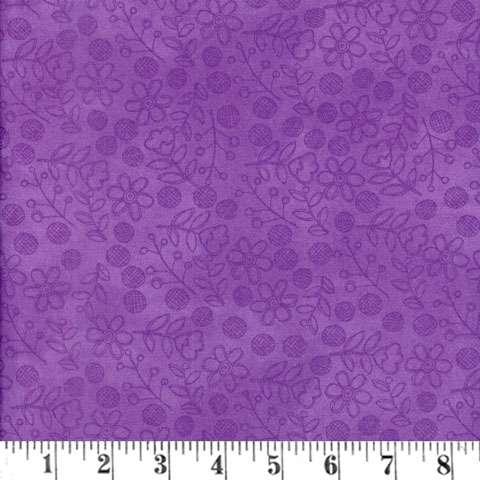 AC253 Daisy Dance - Purple Outline
