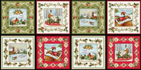 AC256 Christmas Bells - Multi Squares Panel