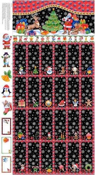 AC416 Christmas Advent Calendar Panel preview