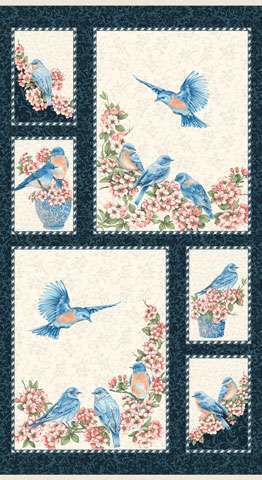 AC431 Bluebird Gathering - Panel 60cm