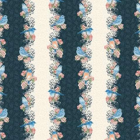 AC432 Bluebird Gathering - Border Stripe