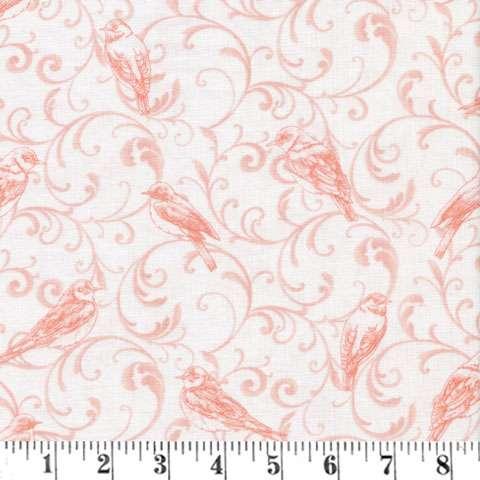 AC435 Bluebird Gathering - Light Pink Scroll