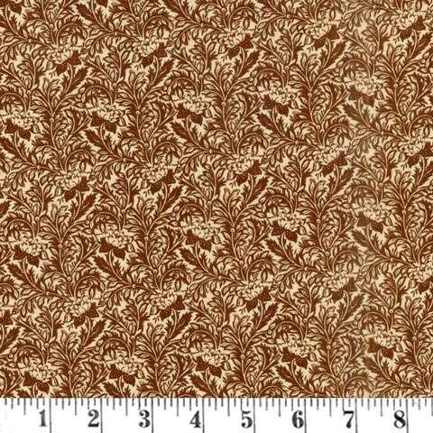 AC483 Postage Stamp - Brown Flower Scroll