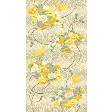 AC534 Mandalay Breeze - Panel (with gold overlay)