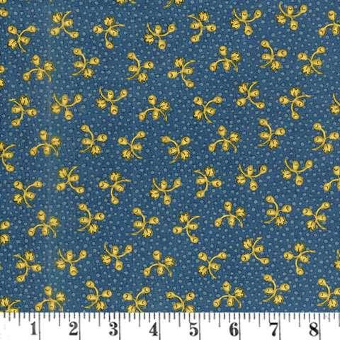 AC662 Prairie Journal - floral buds & dots blue