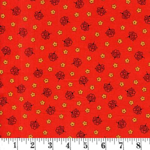 AC664 Prairie Journal - outline floral red