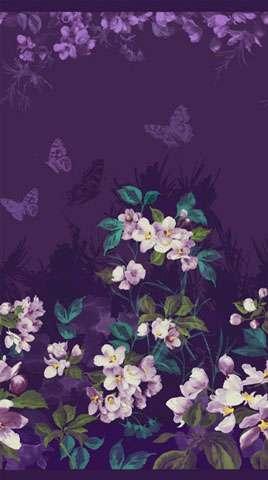 AC676 Mystic Garden - Flower Panel Repeat
