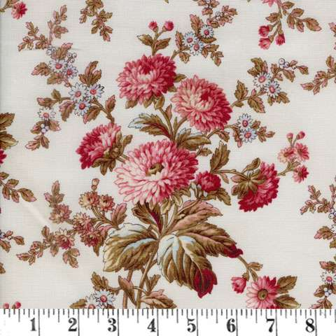 AC693 Roswewater - Cream Main Floral