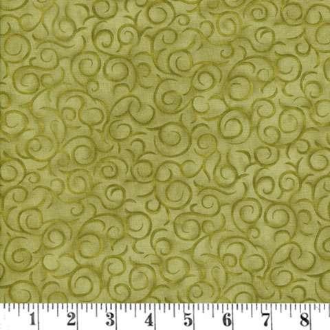 AC697 My Precious Quilt - Green Swirl