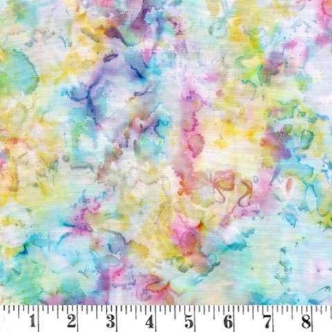 AC739 Blossom Batiks Pastels - Forget-Me-Not