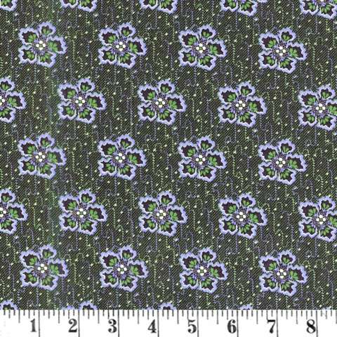 AC765 Lucy's - Dark Green Flower