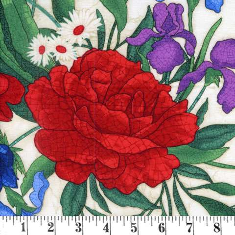 AC836 Mosaic Garden - Cream Floral