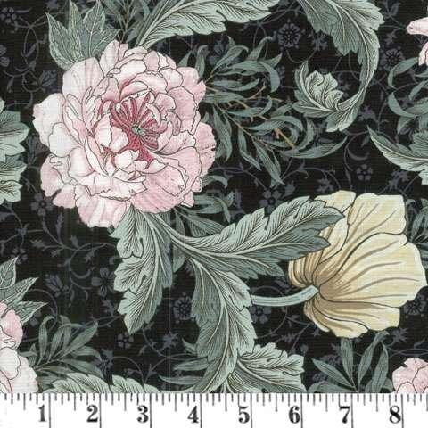AC883 Morris - Large Floral - Black