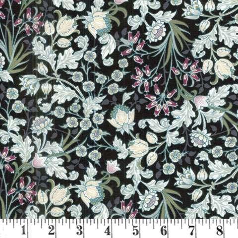 AC884 Morris - Floral - Black