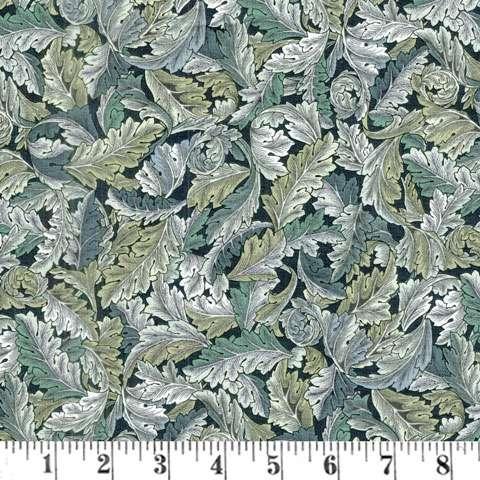 AC885 Morris - Leaves - Stone Green