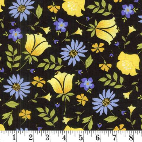 AC965 Meadow Sweets - Black