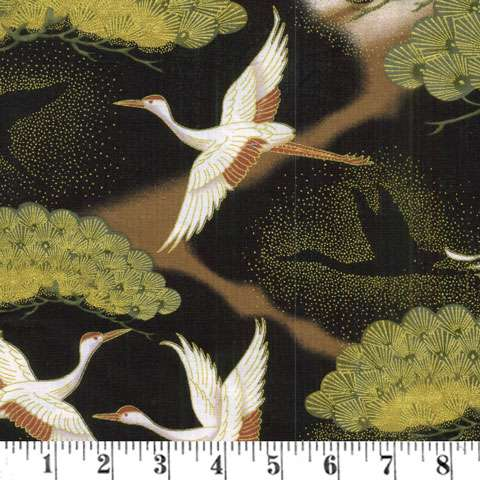 AC984 Cranes in Flight - Black/Copper