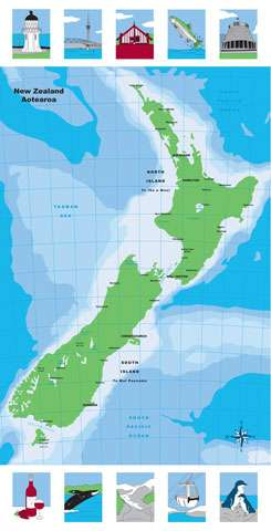AC990 Map of Aotearoa - Panel