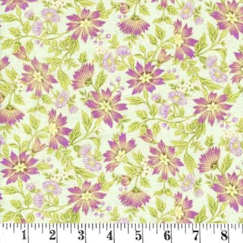 AD063 Ribbon Floral - Mint/Metallic Small Floral