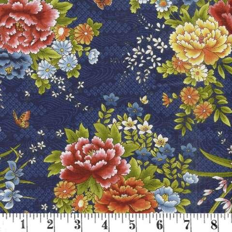 AD064 Japanese Garden - Elegant Indigo