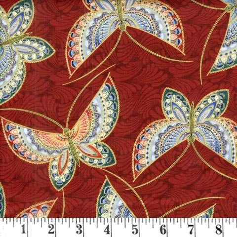 AD065 Butterfly Fandango - Dark Red Butterfly