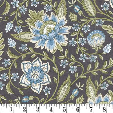 AD076 Botanical Bliss - Dusty Blue Floral
