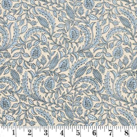 AD077 Botanical Bliss - Dusty Blue Vines