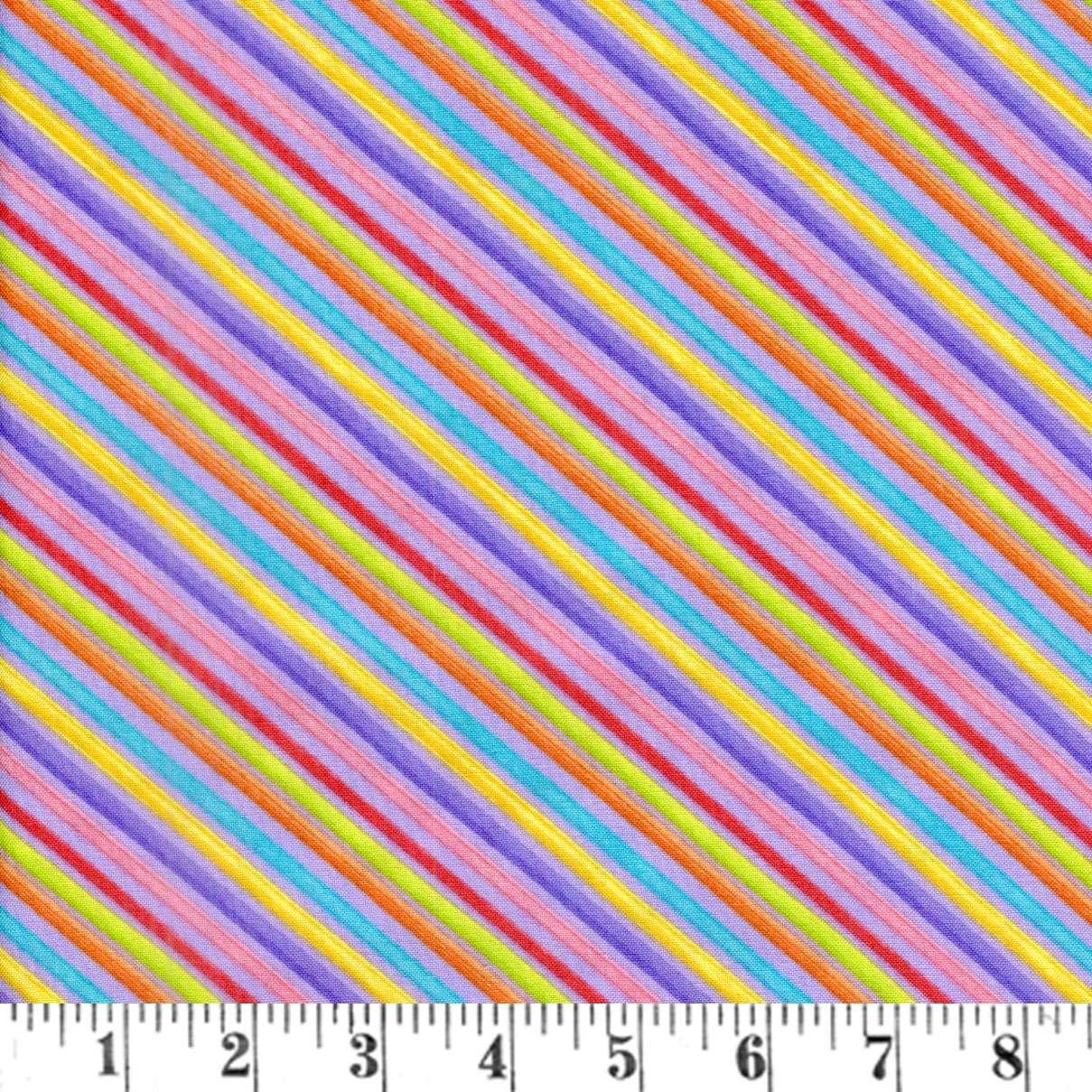 AD085 Blossom - Purple Bias Stripe