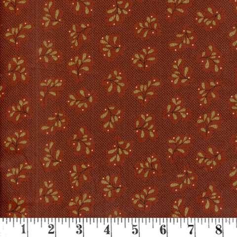 AD111 Katie's Cupboard - Red Basketweave Leaf