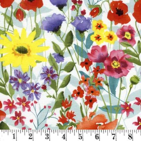 AD123 Spring Meadow - Multi Floral Garden