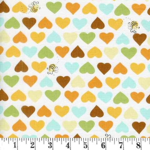 AD133 Zoe The Giraffe - Hearts and Bees