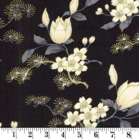 AD155 Zen Garden - Feature Floral - Black/Gold