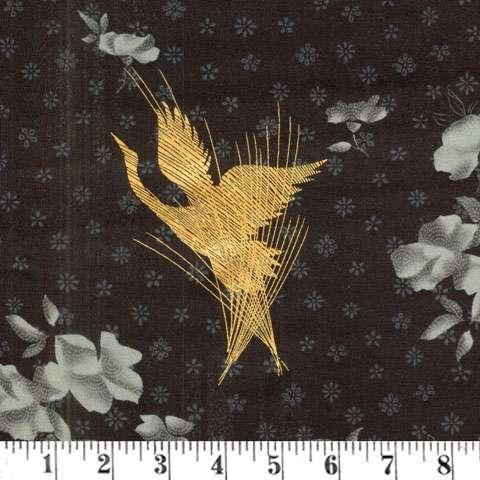 AD156 Zen Garden - Herons - Black/Gold