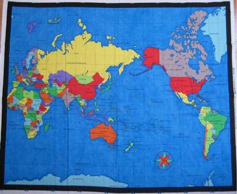 AD211 World Map Panel