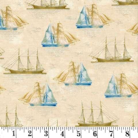 AD249 Tall Ships - Tan Boats
