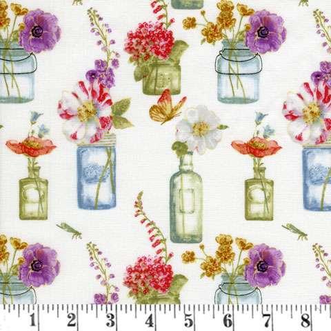 AD258 Rainbow Seeds - White Floral Vases
