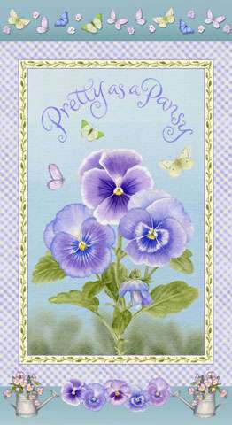 AD262 Pretty as a Pansy - Panel