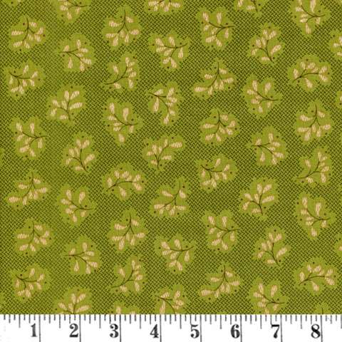 AD281 Katie's Cupboard - Green Basket Weave preview