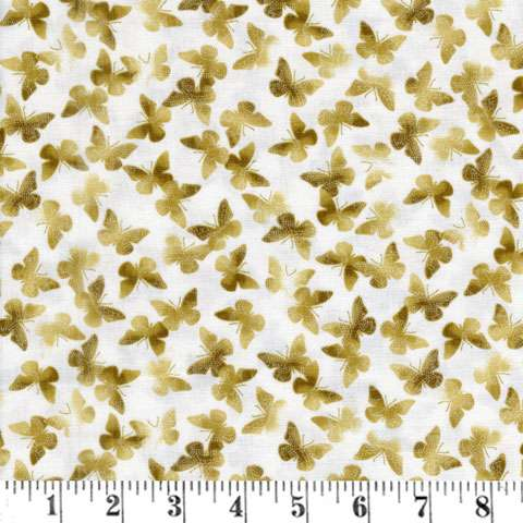 AD292 New Traditions - Cream Butterfly