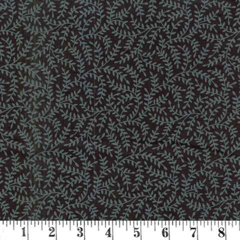 AD324 Extra Wide Backing - Grey Vines on Black