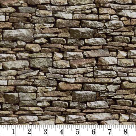 AD382 Naturescapes - Brickwork Brown
